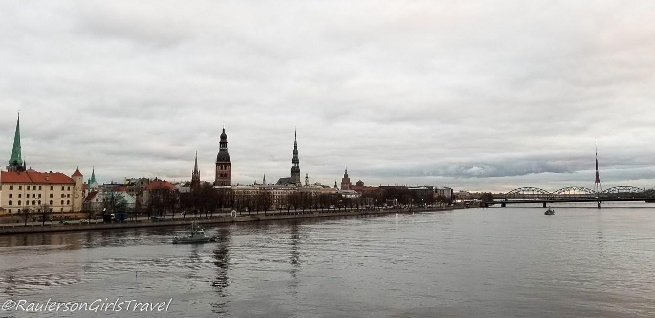 View of Riga from Daugava River