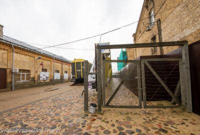 Wooden Fence barricade in the Riga Ghetto