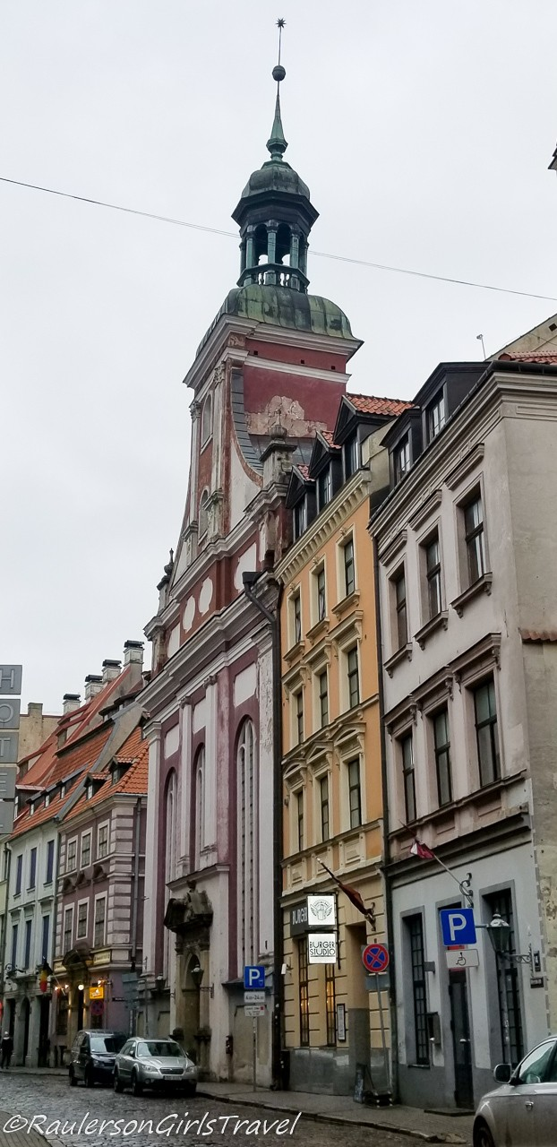 Colorful street in Riga