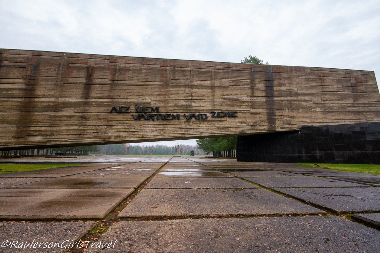 The Monumental Entrance Wall of the Salaspils Memorial