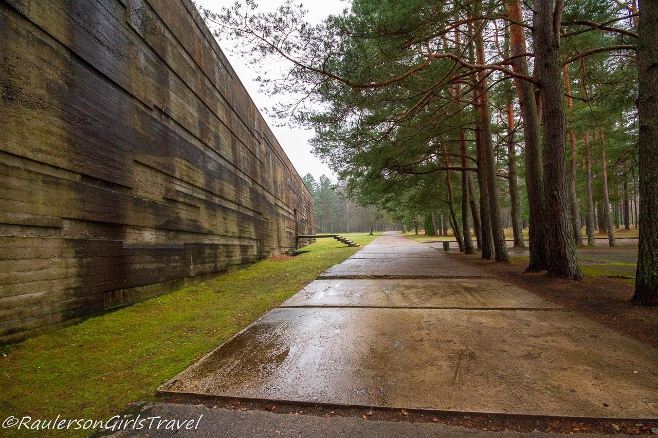 Back of the Salaspils Memorial