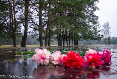 Flowers and the Salaspils Memorial Ensemble
