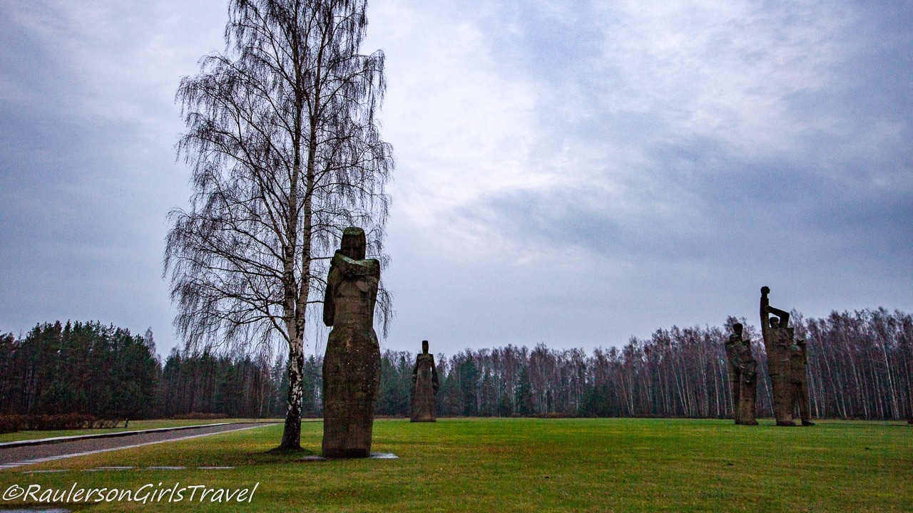 View of the Salaspils Memorial Ensemble