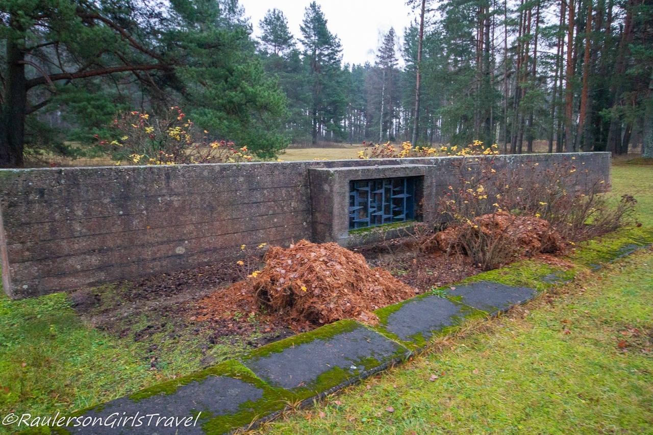 Foundations left from the Salaspils Barracks