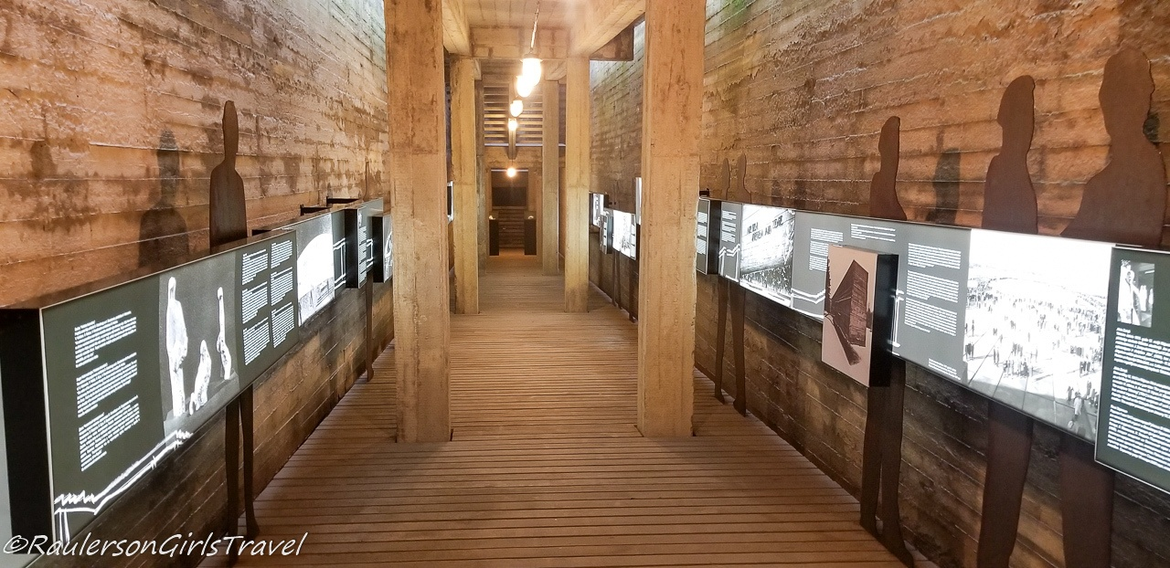 Displays Inside the Salaspils Concentration Camp Memorial