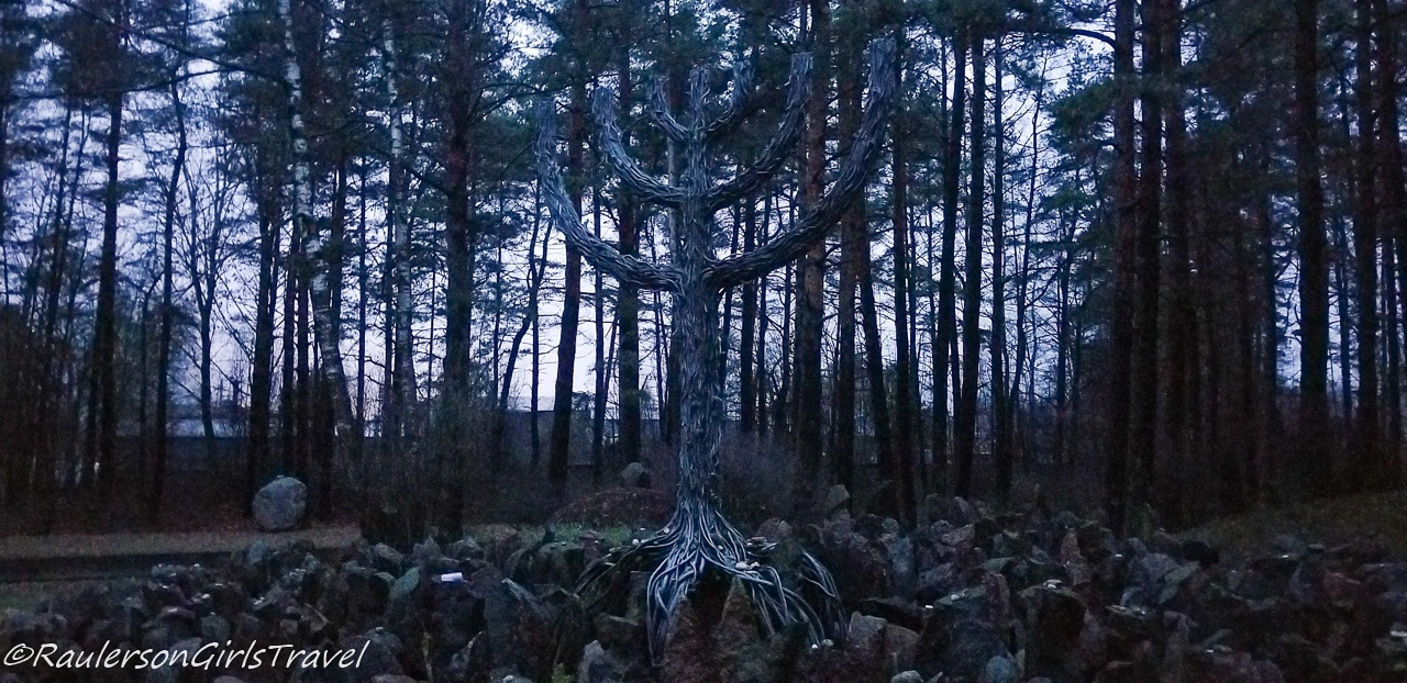 Rumbula Forest Memorial in Riga Latvia
