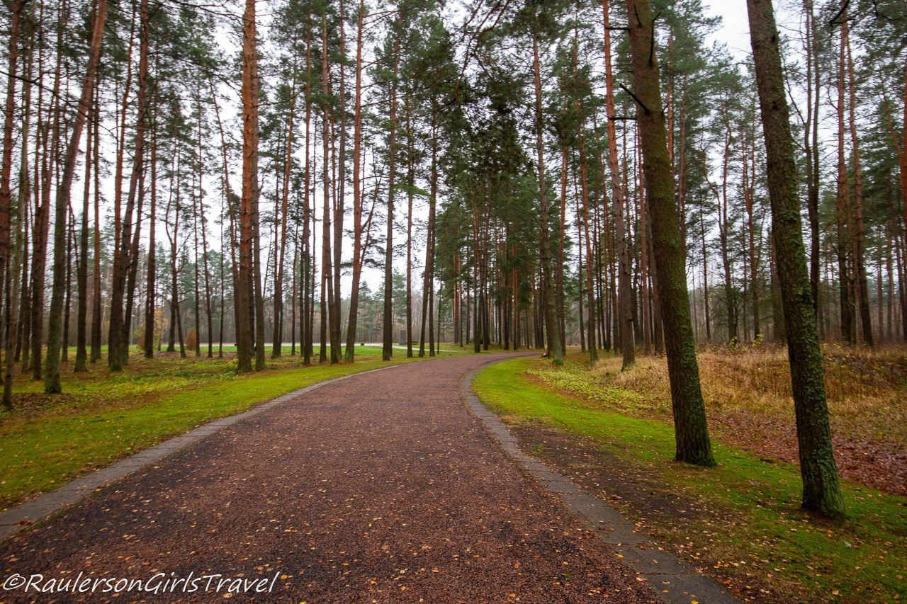 Path to the Salaspils Memorial