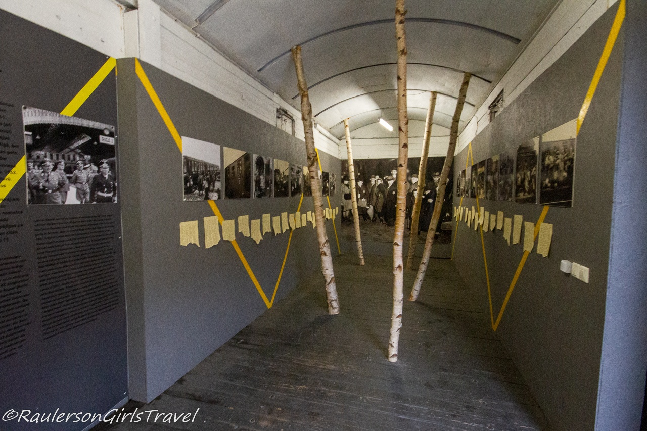 Inside of a Cattle Car that transported Jews in World War II