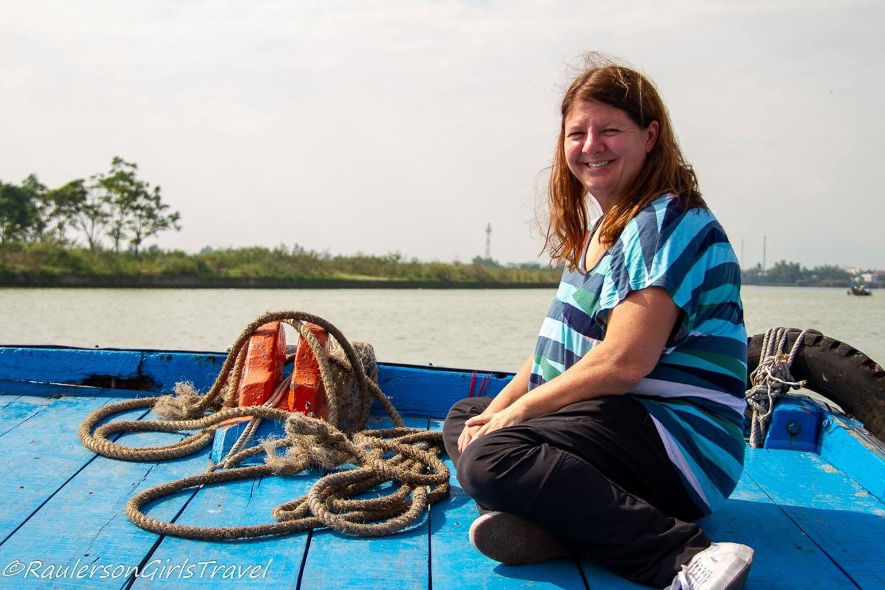 Heather on a Boat Ride in Hoi An