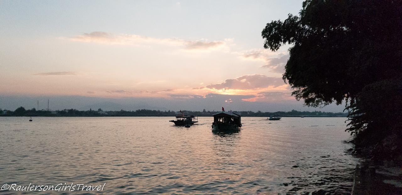Sunset in Hoi An, Vietnam