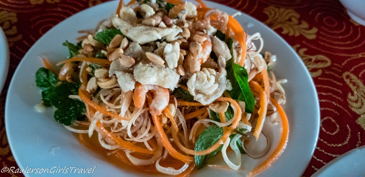 Banana Flower Salad - Lunch on Hoi An Eco Green Tour
