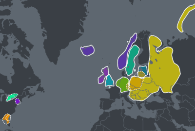 My DNA Story - Ancestry DNA results