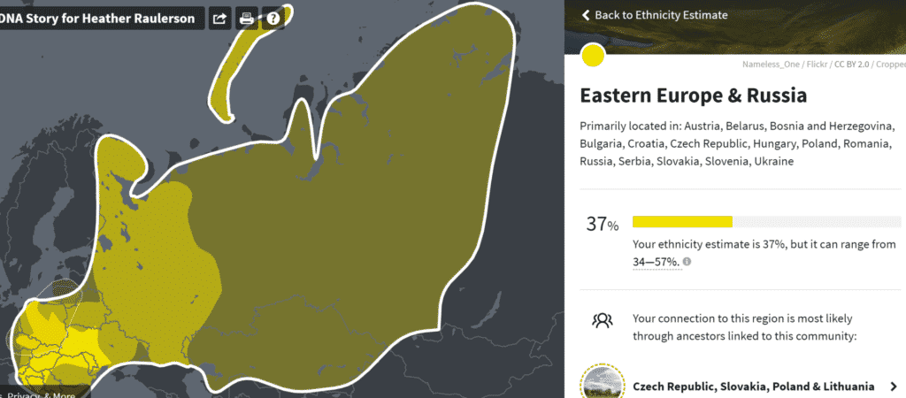 Eastern Europe and Russia DNA results