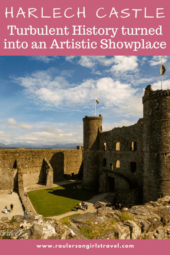 Harlech Castle Pinterest Pin
