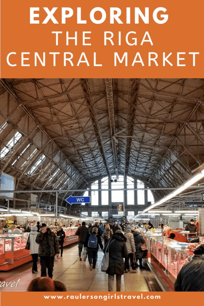 Riga Central Market Pinterest Pin