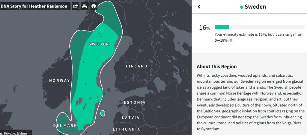 Sweden DNA results