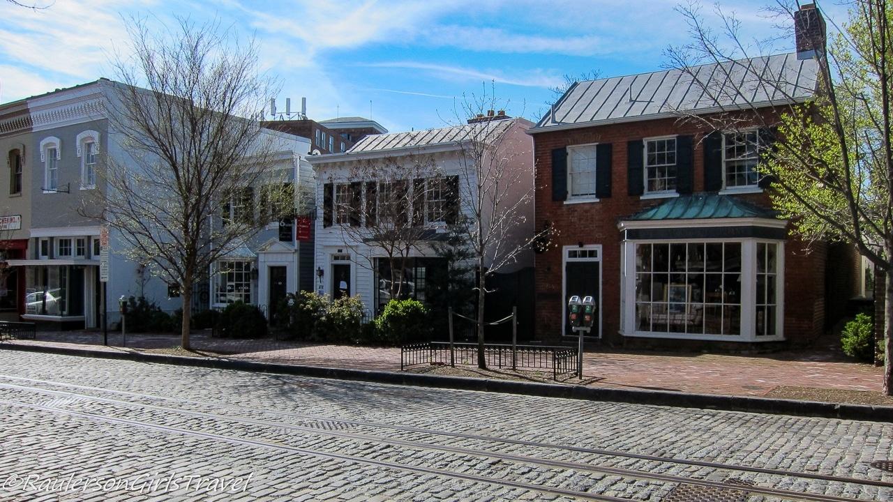 Cobbled street in Georgetown