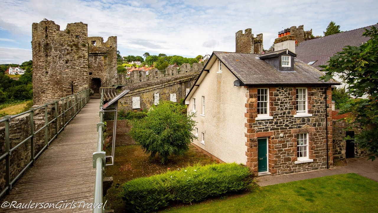 Llywelyn's Hall and Tower by the Medieval Town Walls in Conwy