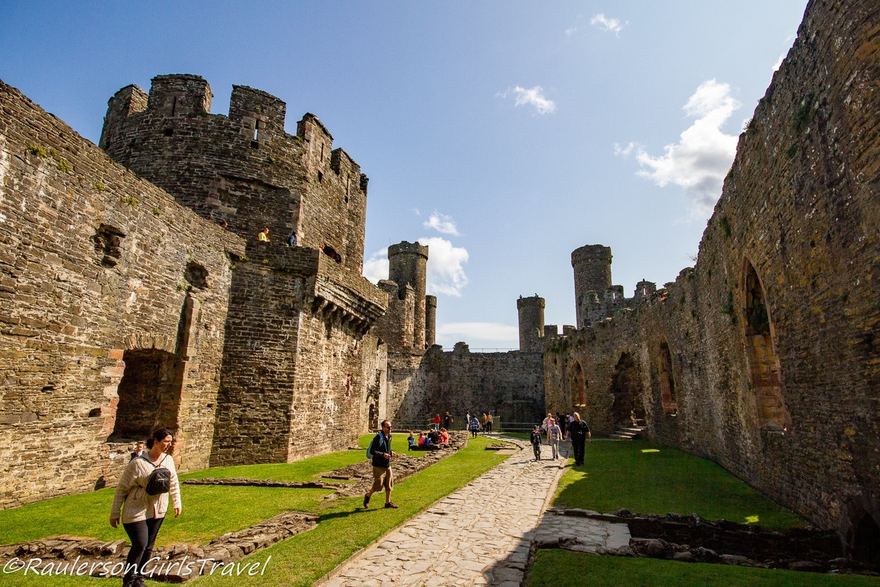 Inside Courtyard at Conwy Castle
