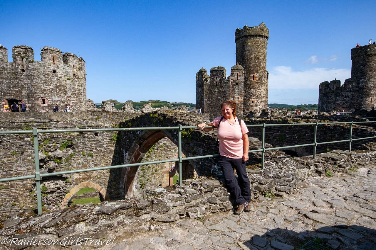 Heather on Conwy Castle Walls
