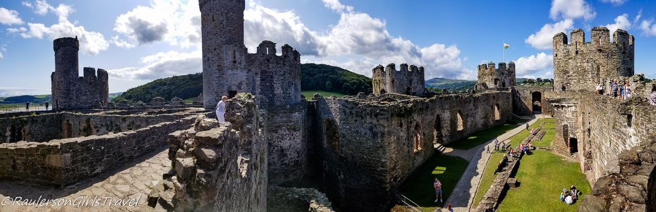 Panoramic View of Conwy Castle