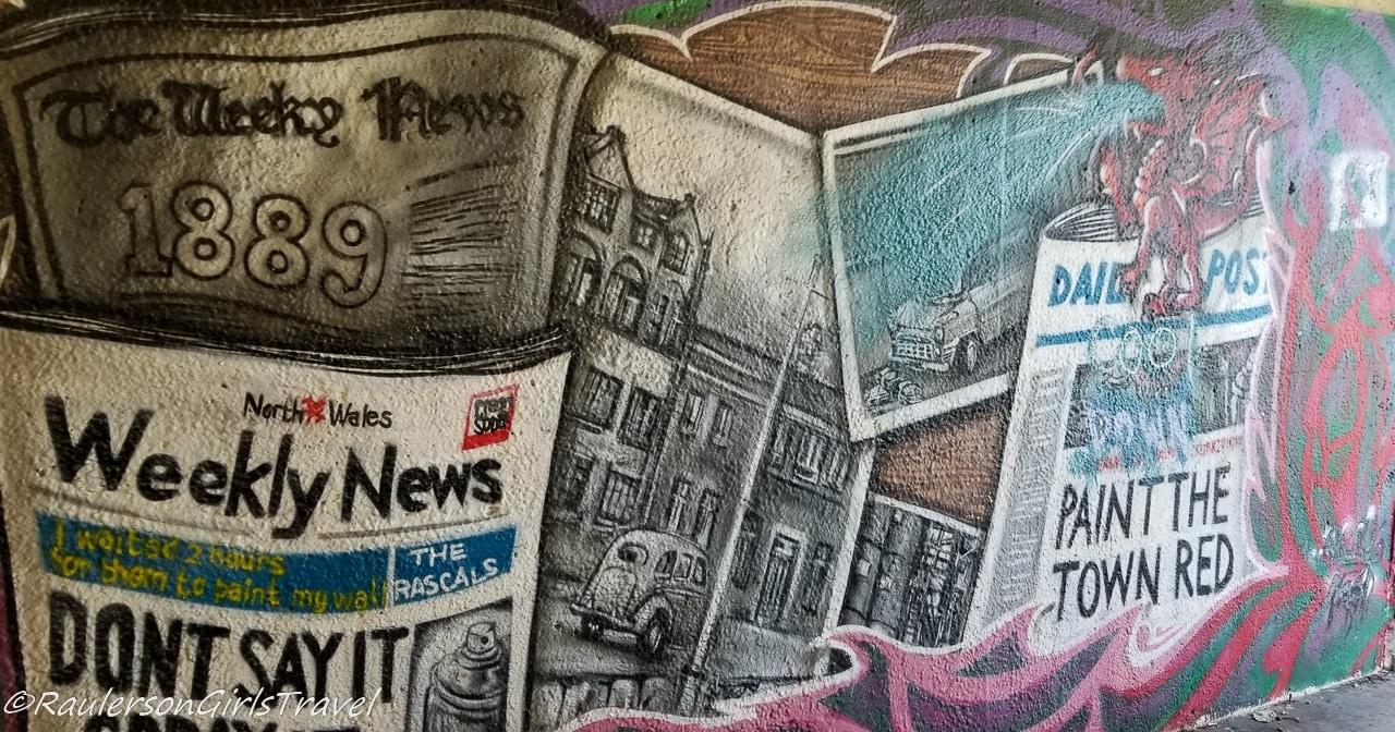 Newspaper Street Art