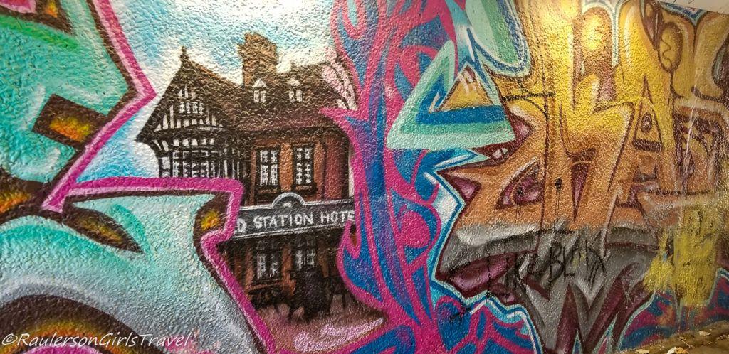 Conwy Station Hotel Street Art