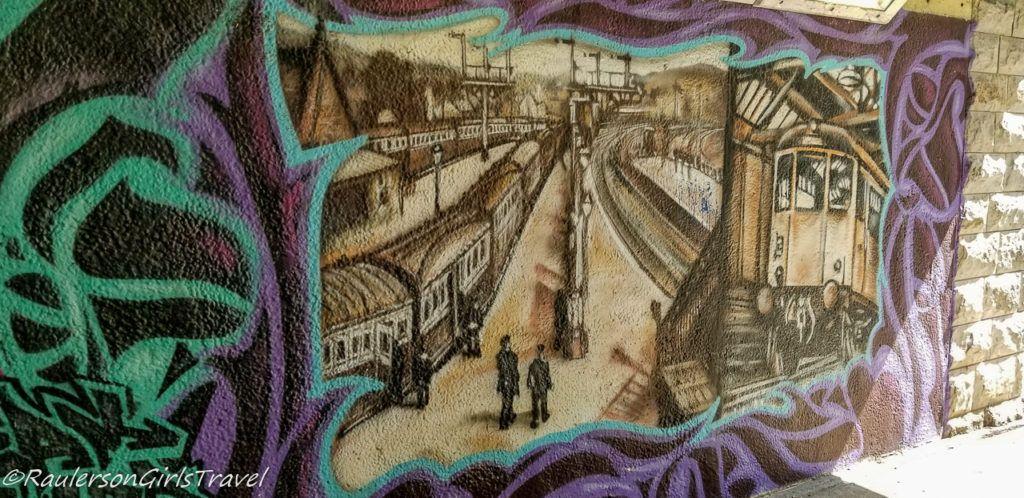 Train Depot Street Art in Conwy