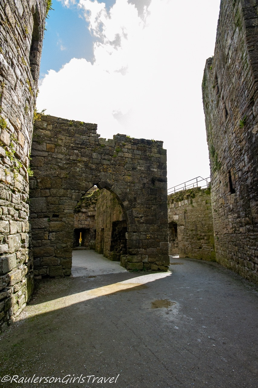 Inside the walls of the castle