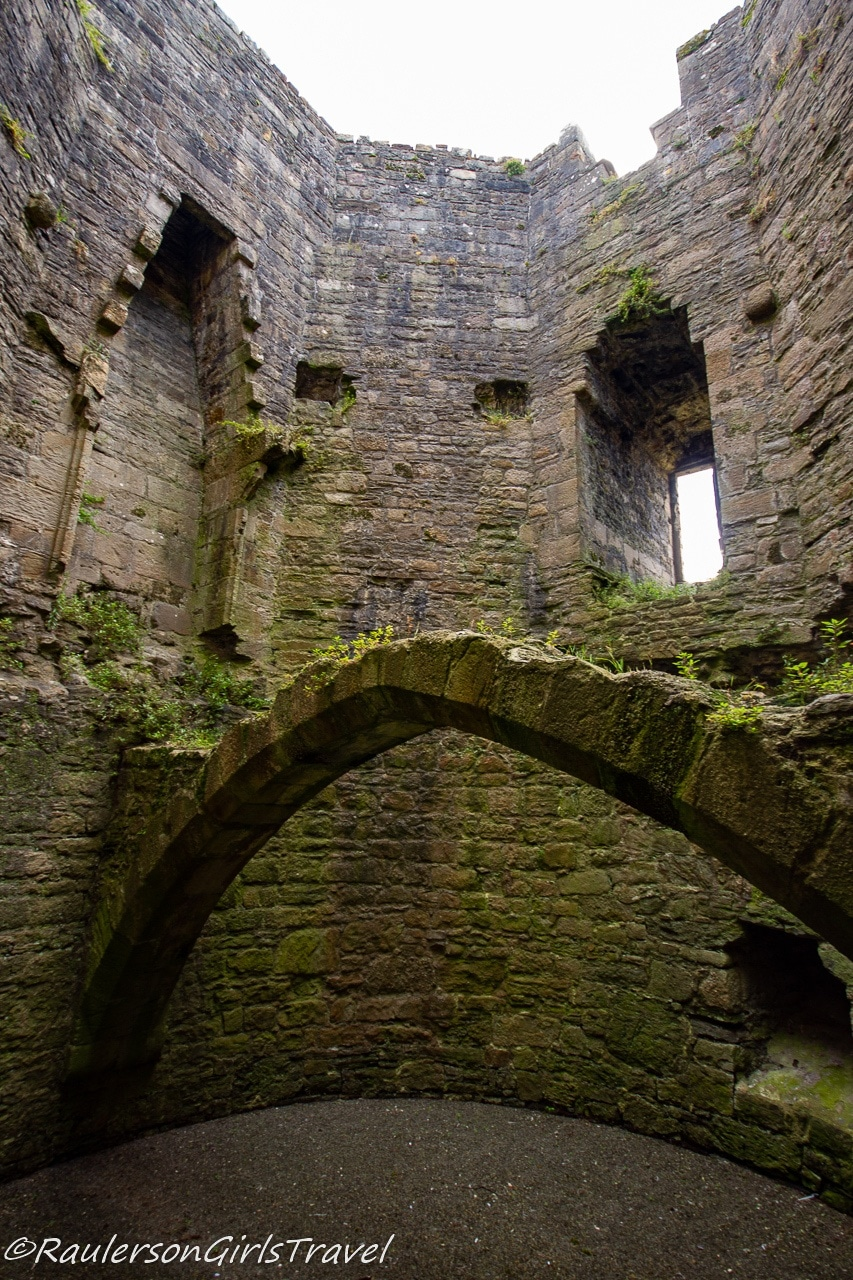Ruins inside castle tower