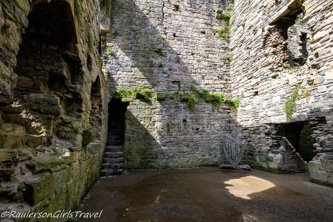 Music room in Beaumaris Castle