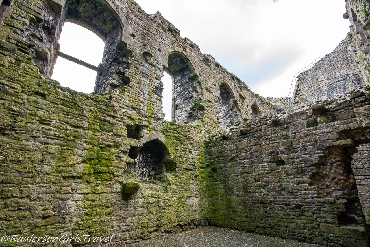 Inside view of ruin castle walls