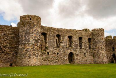 Inside wall of Beaumaris Castle