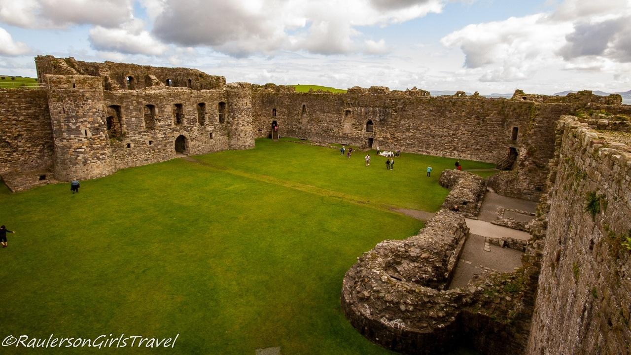 Inside castle courtyard