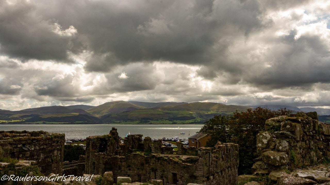 Views of Snowdonia from Beaumaris Castle