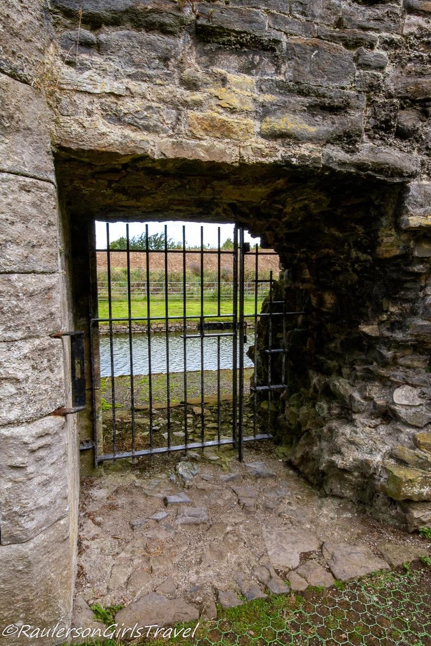 Castle gate to river