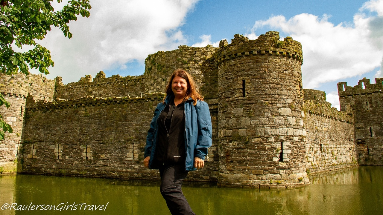 Heather standing in front of Beaumaris Castle