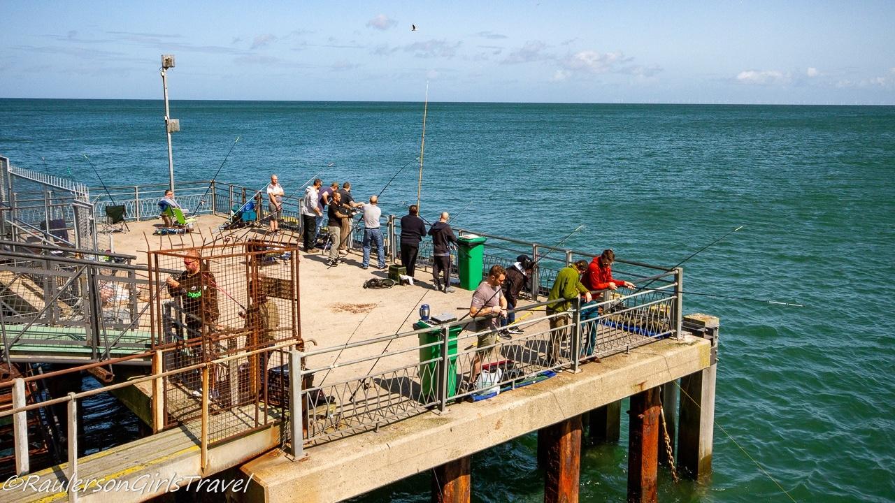 Fishing off the Llandudno Pier