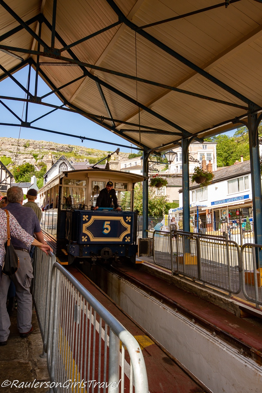 Great Orme Tram coming into the station