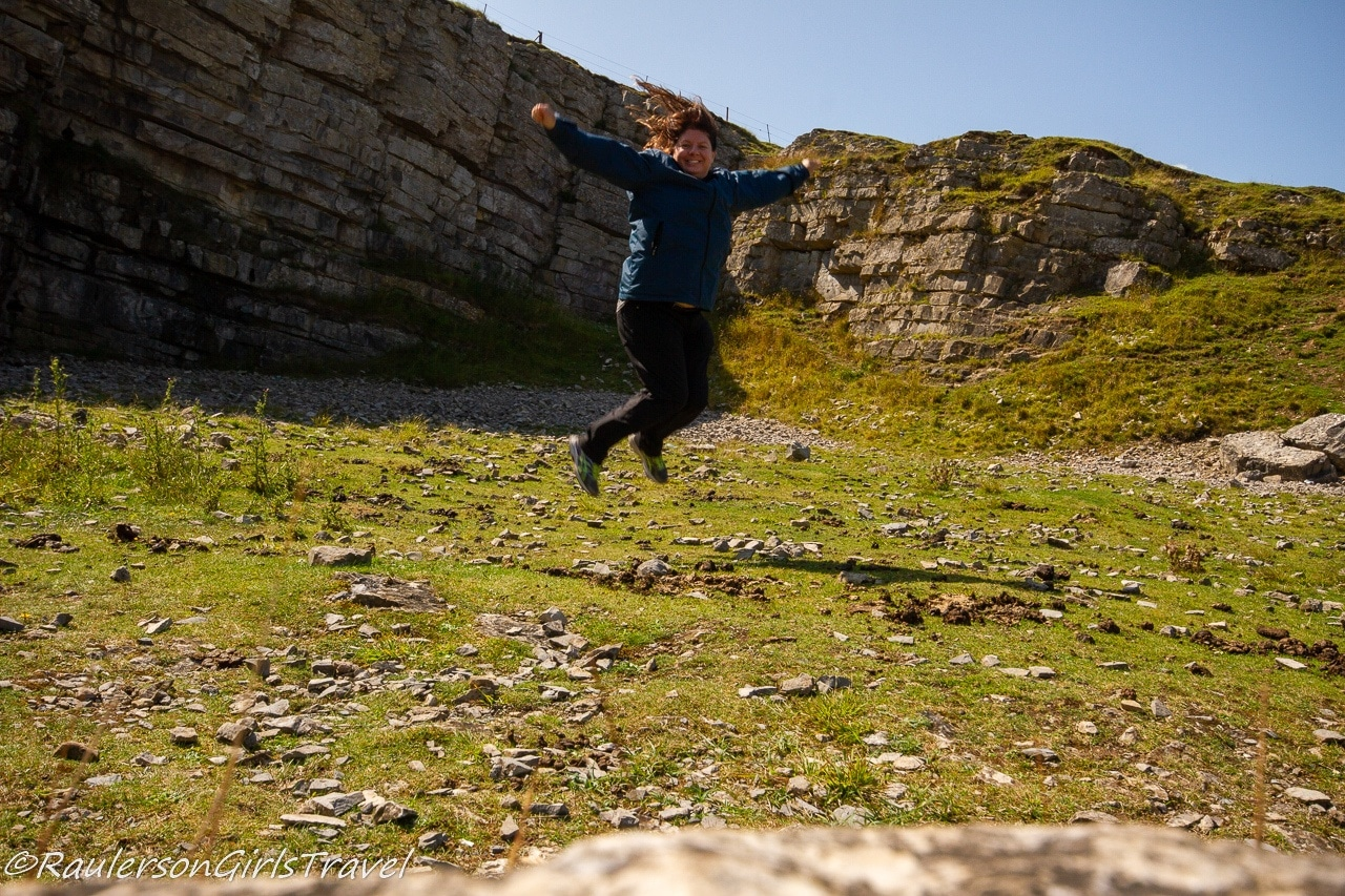 Heather Jumping for Joy in the Quarry