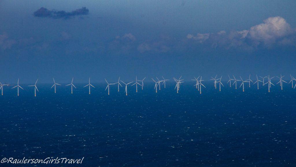 Wind turbine farm off the coast of Wales