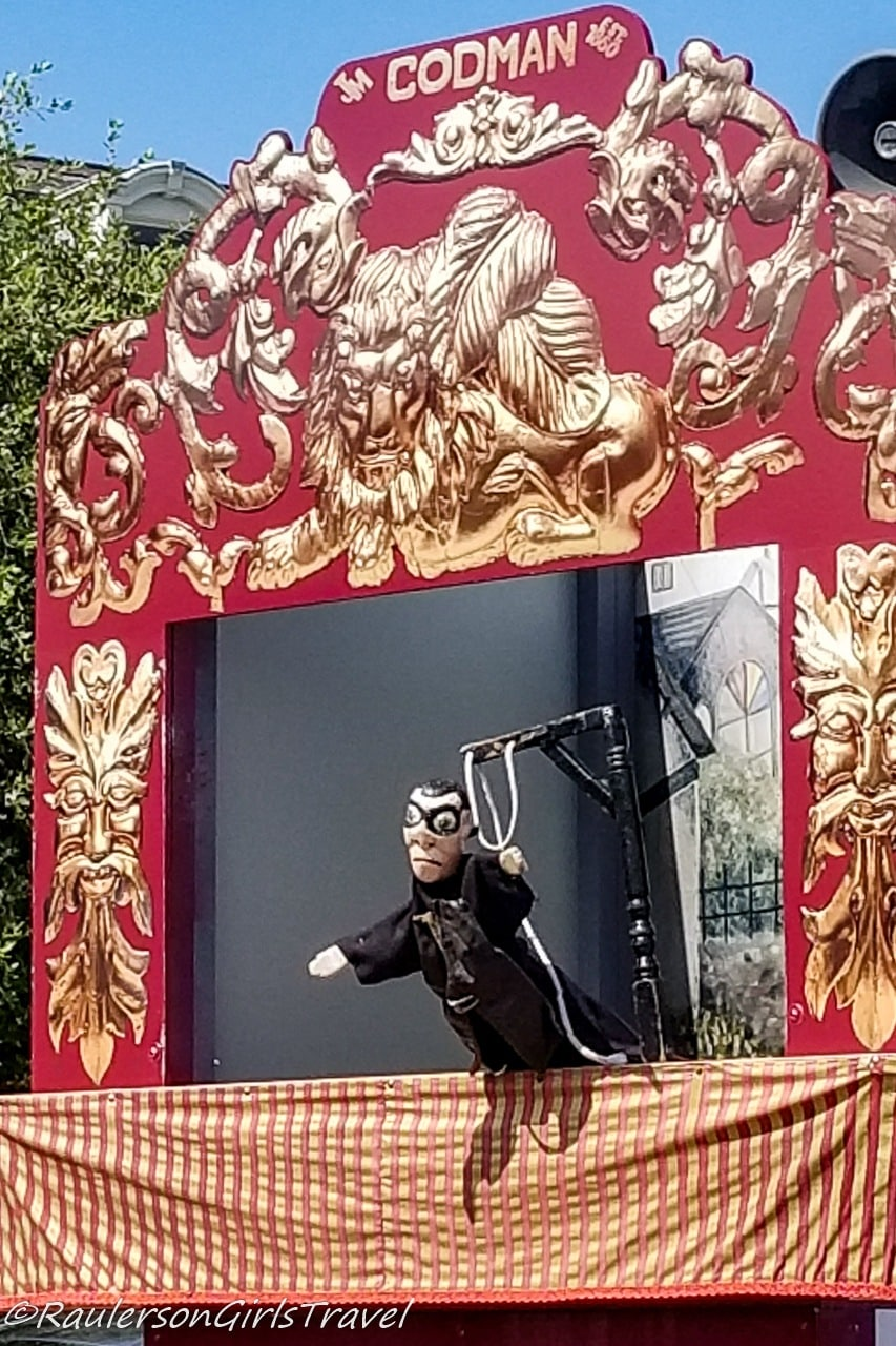 The executioner at the Punch and Judy Show