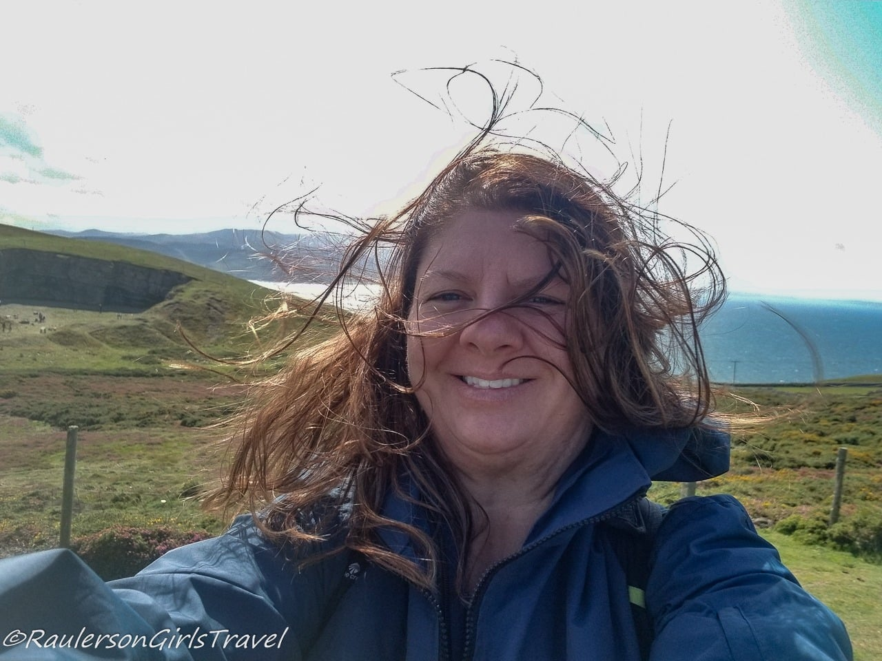 Windy Day on the Great Orme Summit