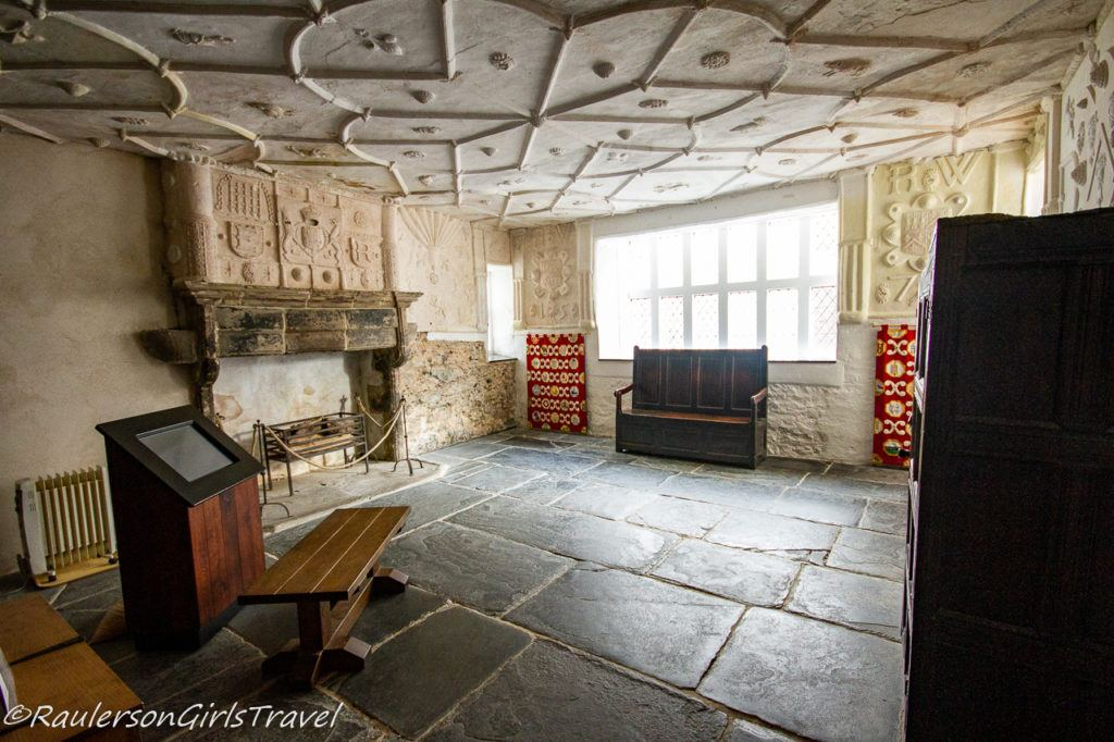 Plaster work ceiling in Plas Mawr