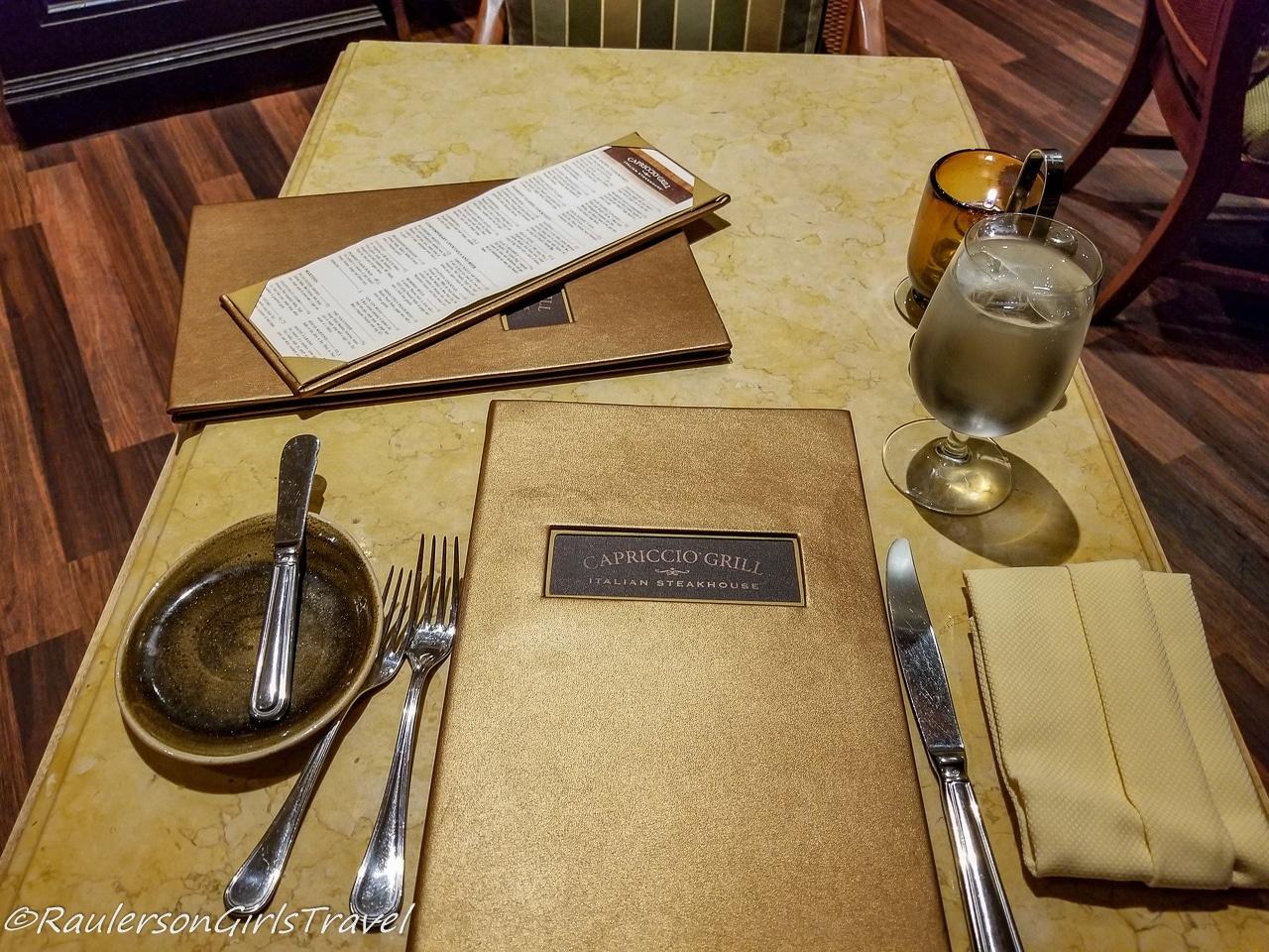 Capriccio Grill in the Peabody Hotel in Memphis