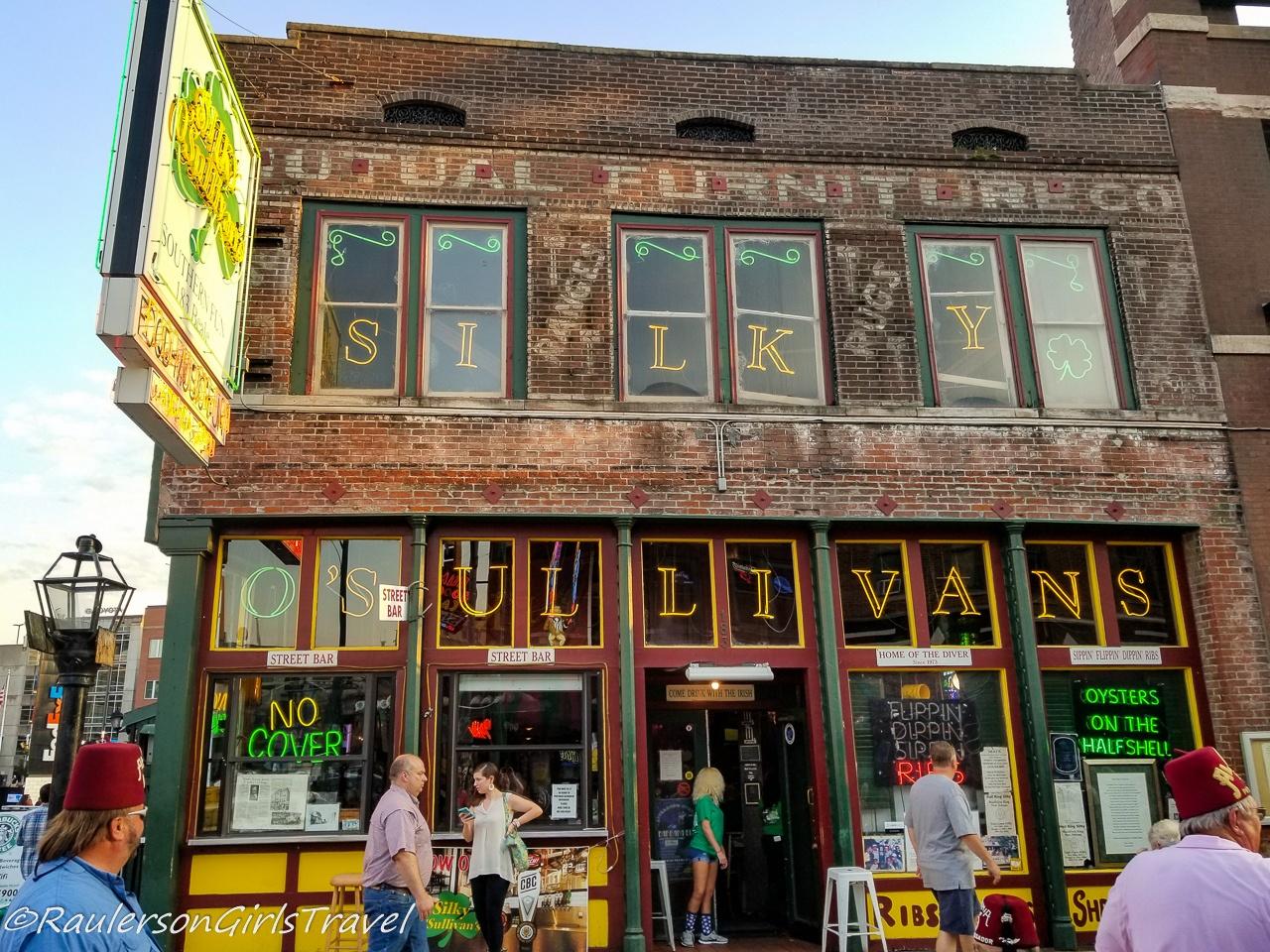 Silky O'Sullivan's Pub on Beale Street in Memphis