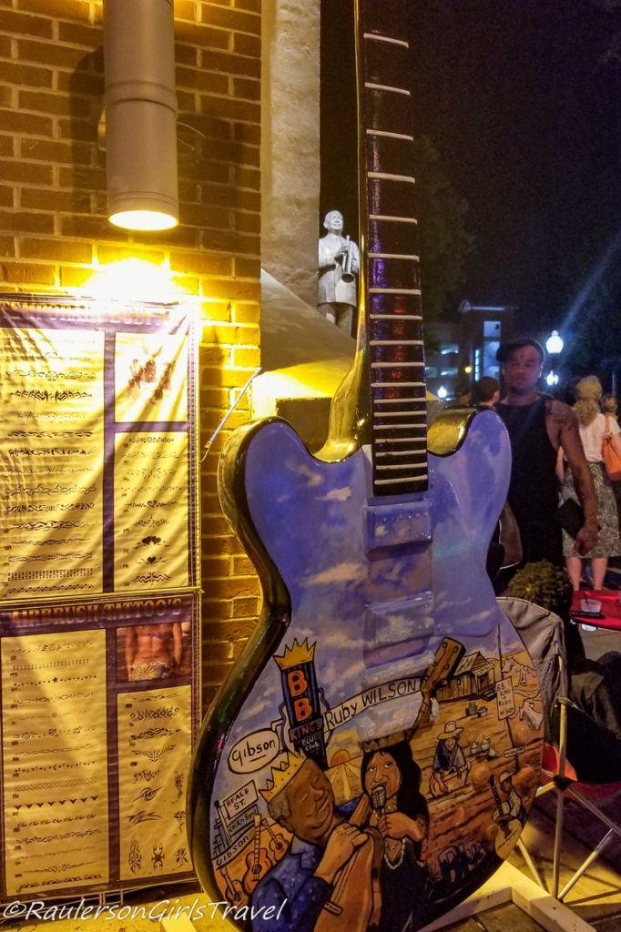 Ruby Wilson Big Guitar Art in Memphis