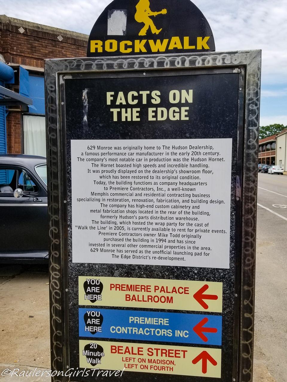 Rockwalk signs in Memphis