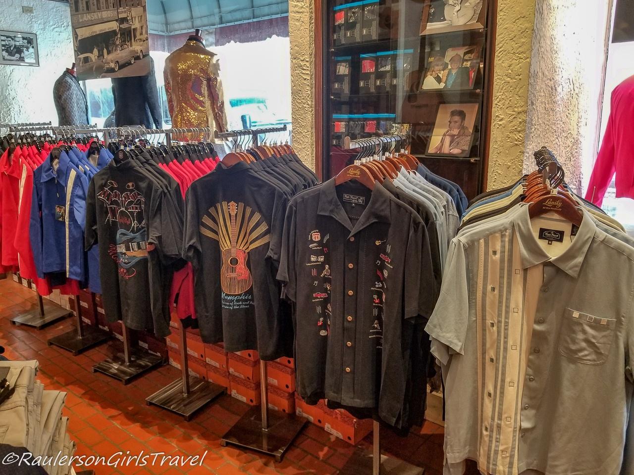 Jackets and shirts at Lansky Bros