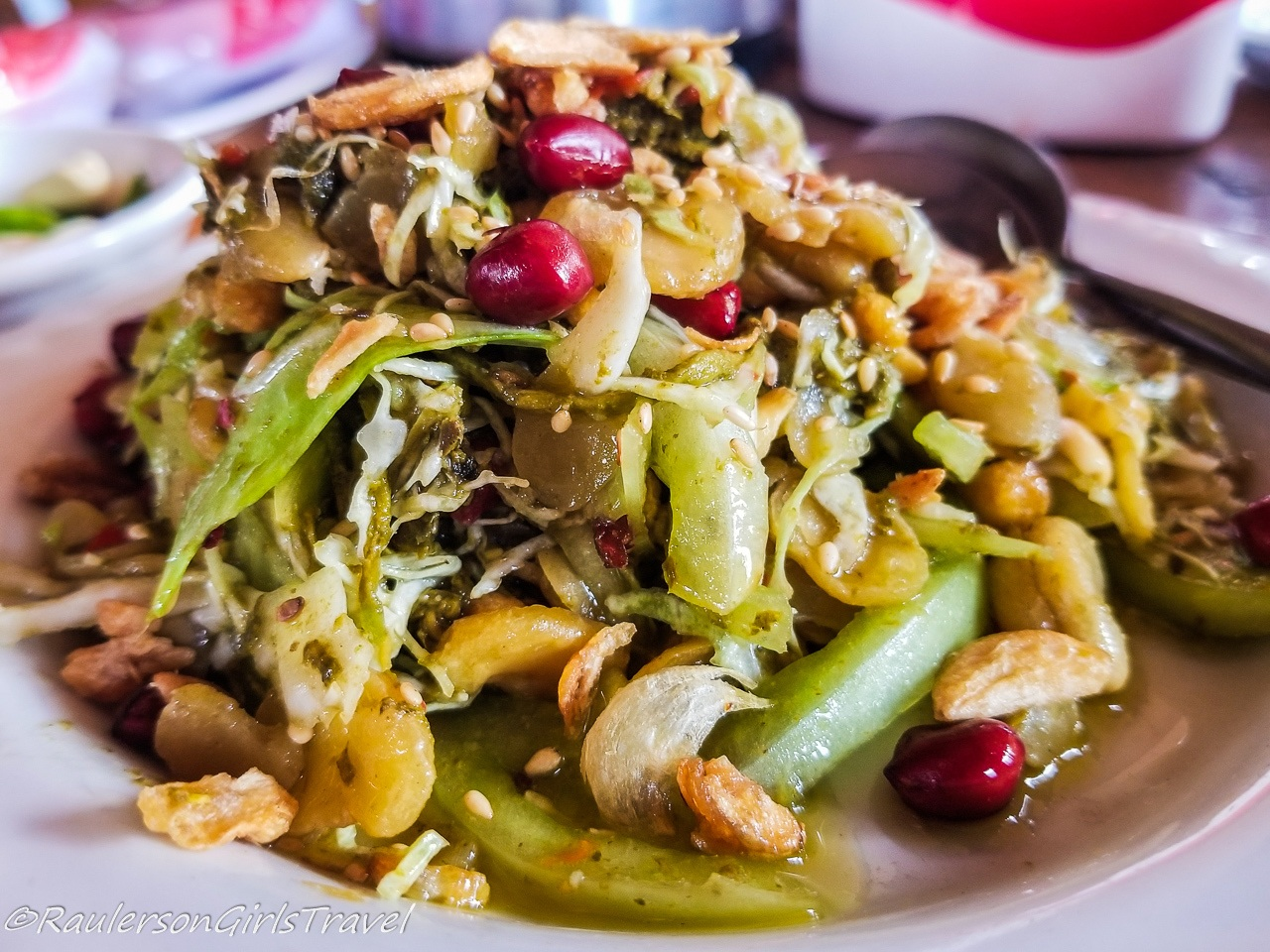 Burmese Tea-Leaf Salad in Myanmar
